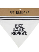 CREATIVE BRANDS PET BANDANA - EAT BARK REPEAT