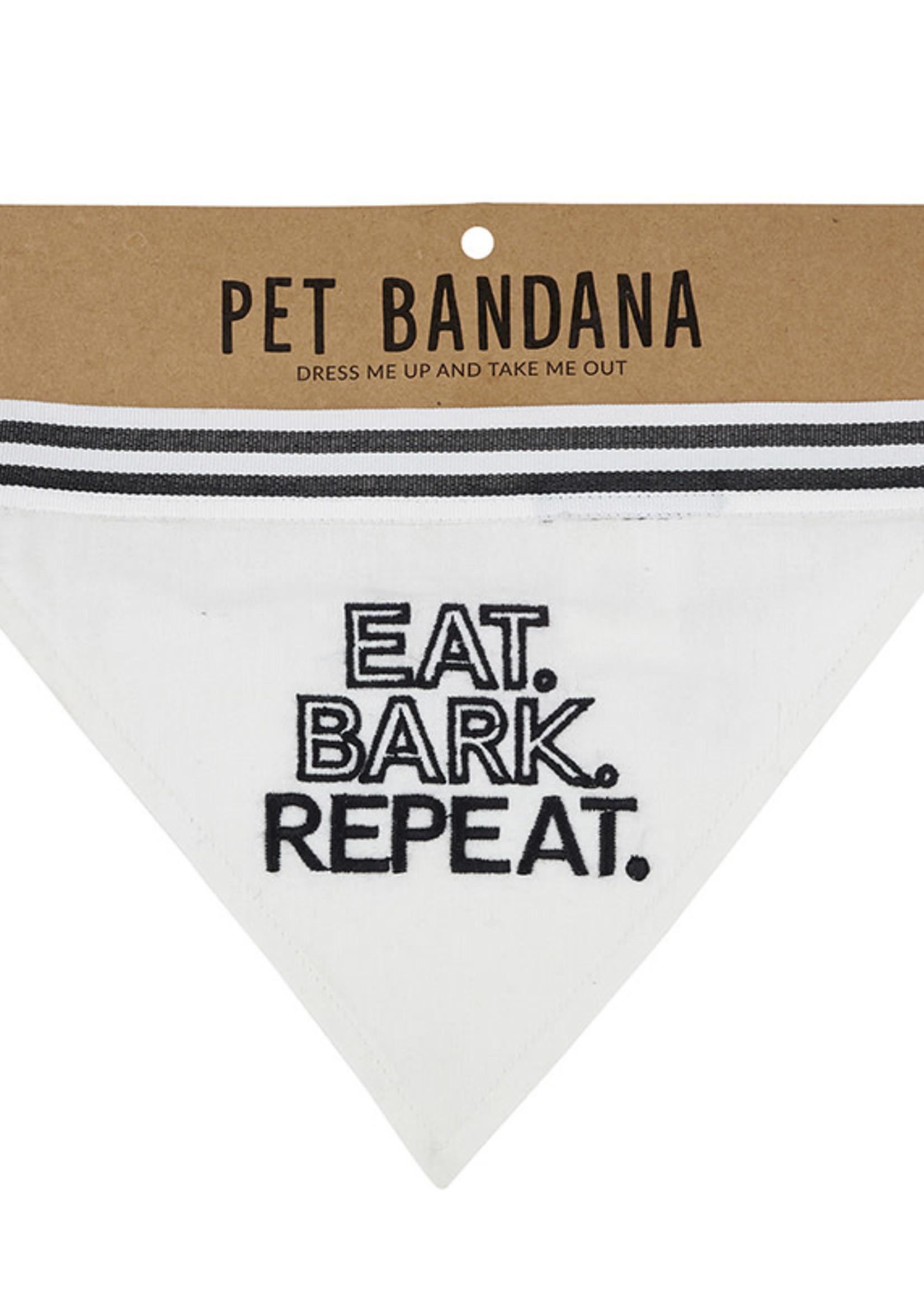 CREATIVE BRANDS PET BANDANA - EAT BARK REPEAT