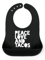 BELLA TUNNO BELLA  TUNNO PEACE LOVE TACO WONDER BIB