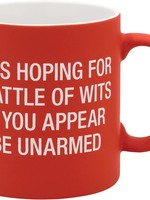 ABOUT FACE ABOUT FACE BATTLE OF WITS LARGE MUG