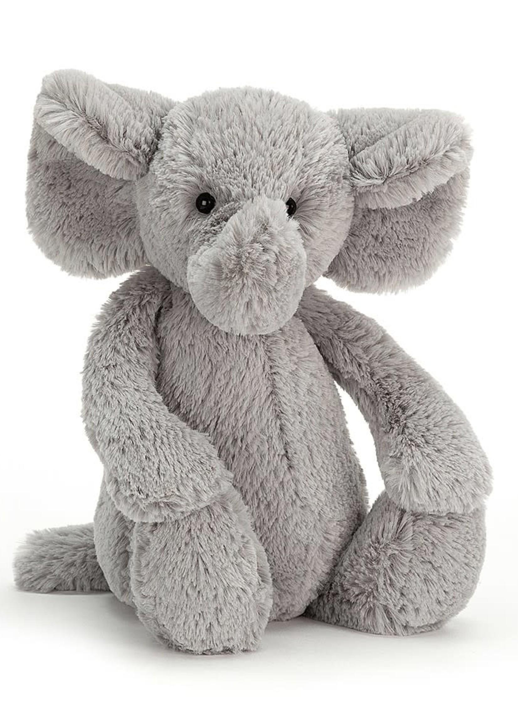 JELLYCAT JELLYCAT SMALL BASHFUL GREY ELEPHANT