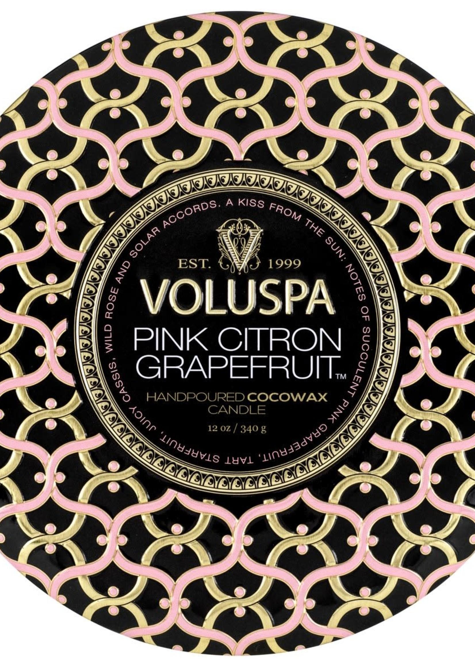 VOLUSPA VOLUSPA 3 WICK TIN-CITRON GRAPEFRUIT