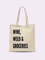 CRIMSON & CLOVER WINE, WEED, & GROCERIES TOTE BAG