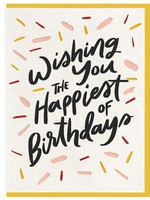 DAHLIA PRESS HAPPIEST BIRTHDAY CARD
