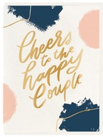 DAHLIA PRESS CHEERS TO THE HAPPY COUPLE CARD