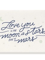 DAHLIA PRESS MOON & STARS CARD