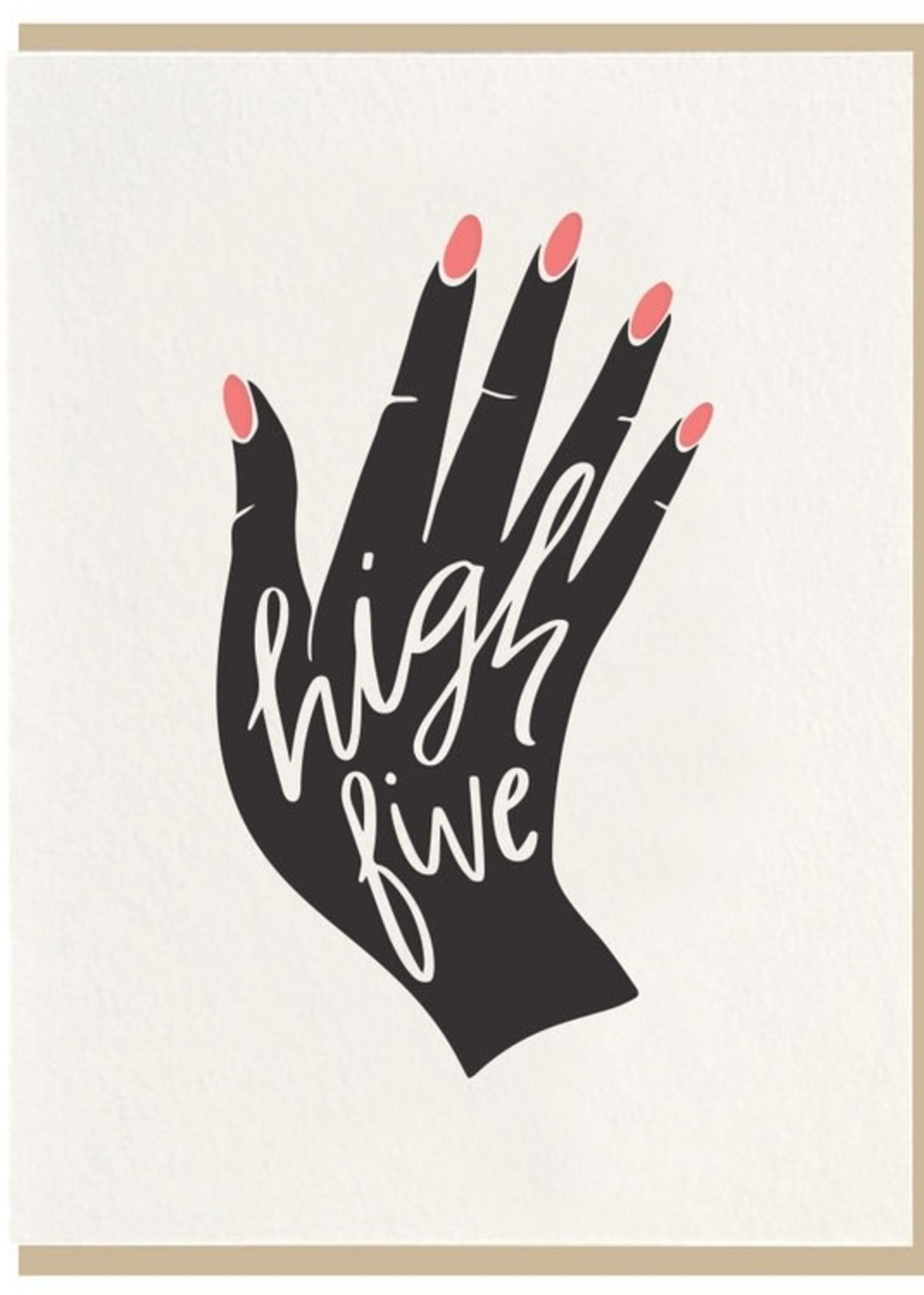DAHLIA PRESS HIGH FIVE CARD