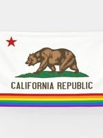 FLAGS IMPORTER FLAGS IMPORTER CALIFORNIA RAINBOW PRIDE FLAG 3X5