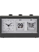SOCIETY OF LIFESTYLE SOL CLOCK WITH CALENDAR - BLACK