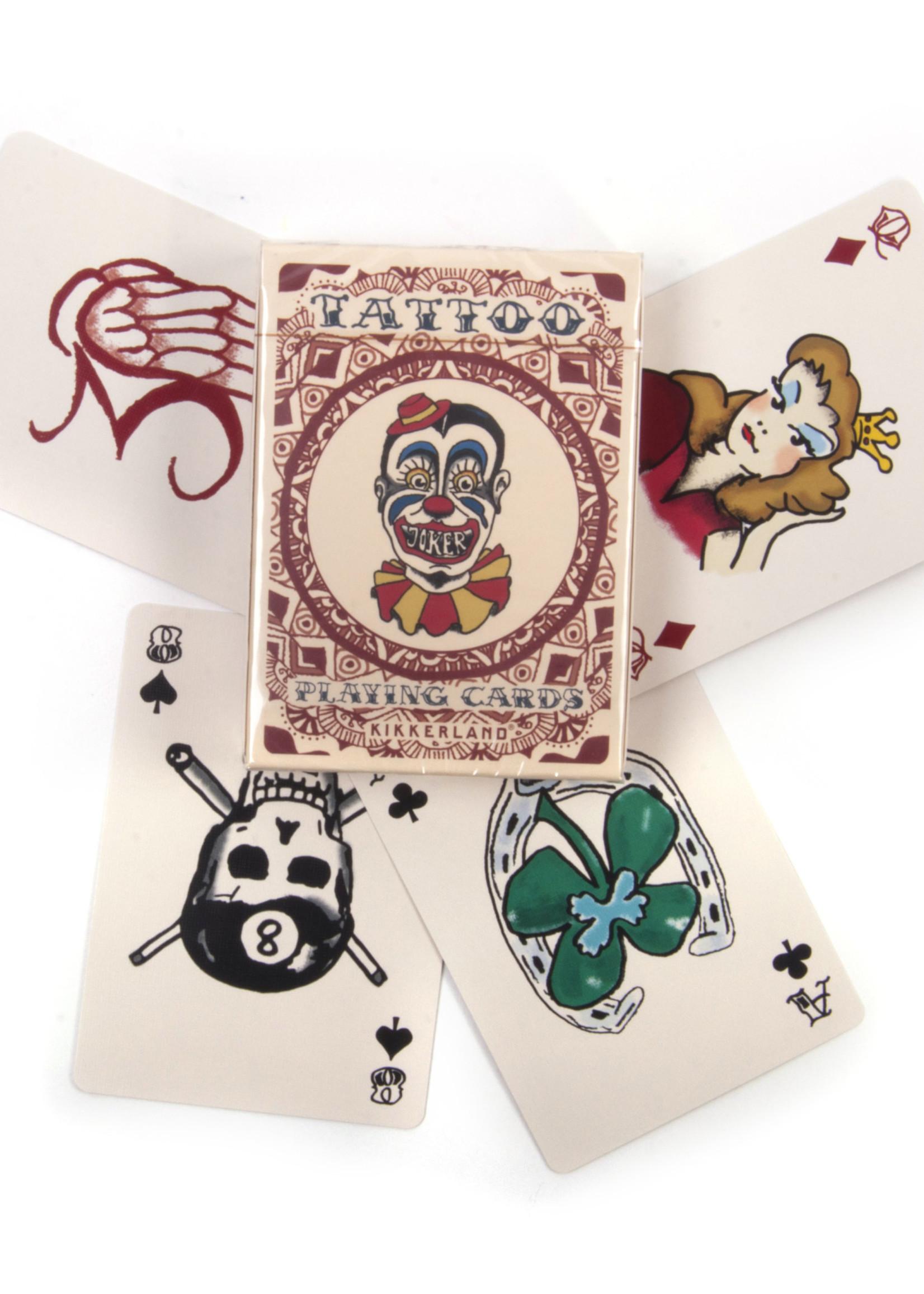 Kikkerland KIKKERLAND TATTOO PLAYING CARDS