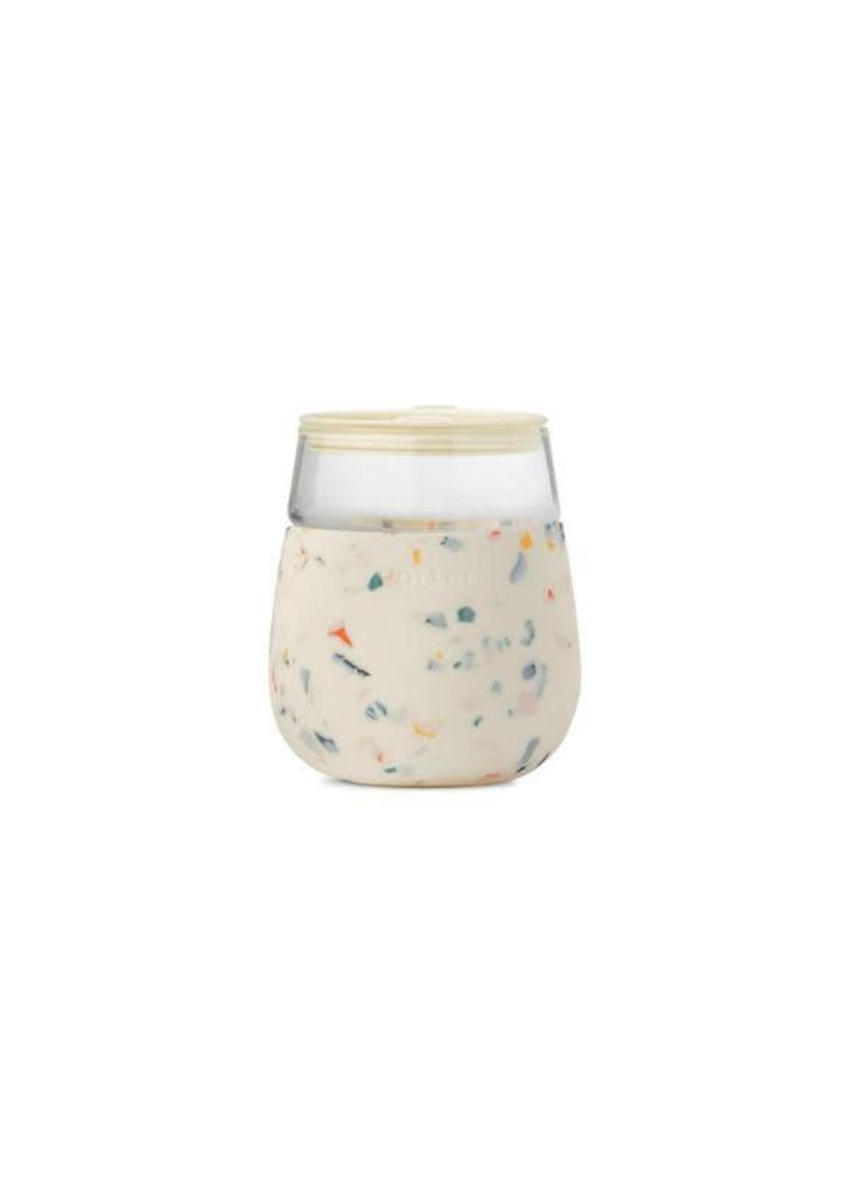 W&P W&P GLASS CUP - CREAM TERRAZZO
