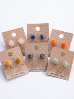 GEOCENTRAL GEOCENTRAL ROUGH STONE EARRINGS