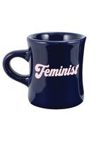 TALKING OUT OF TURN TALKING OUT OF TURN DINER MUG- BLUE FEMINIST
