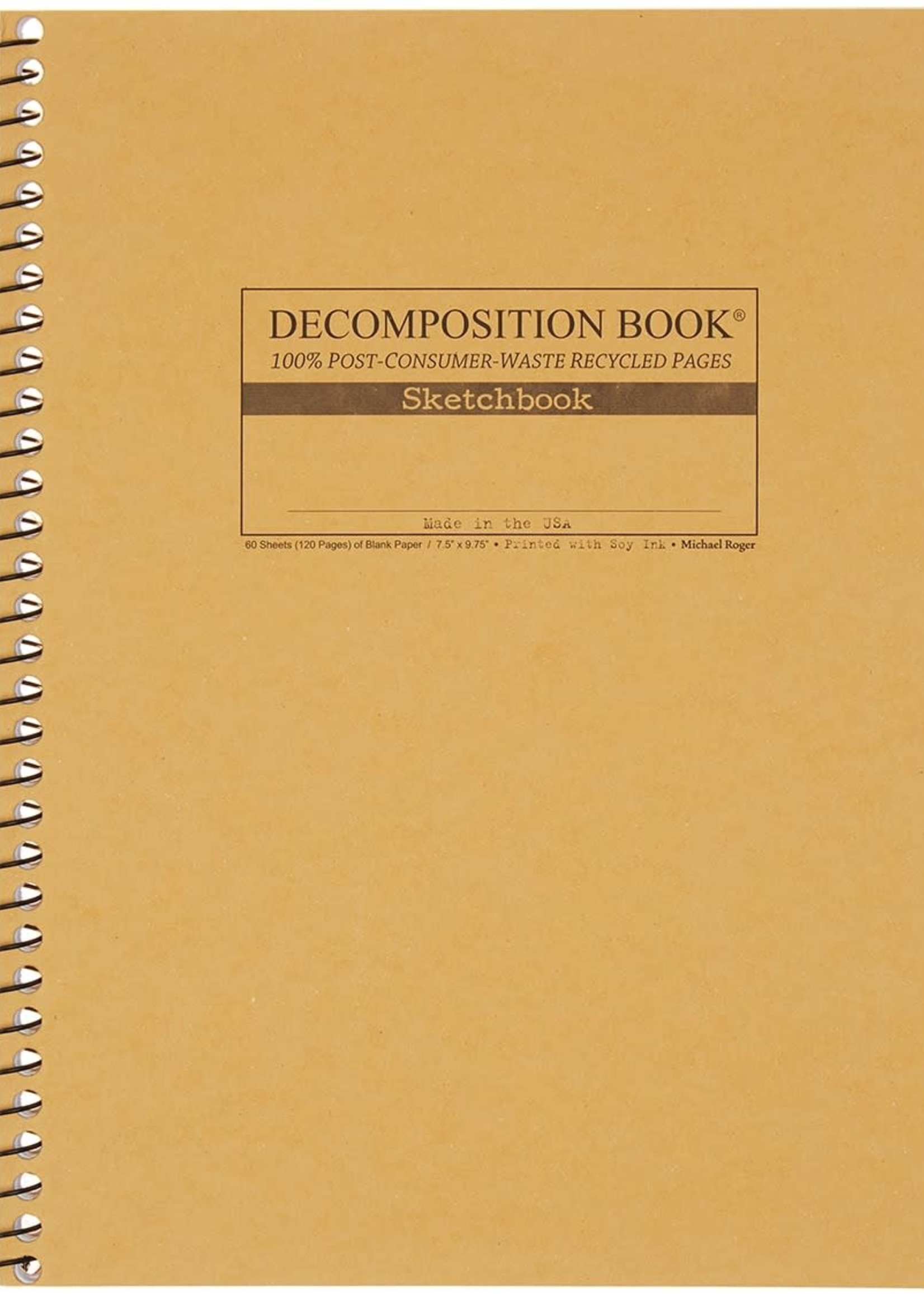MICHAEL ROGER DECOMPOSITION COILBOUND SKETCHBOOK-SAND