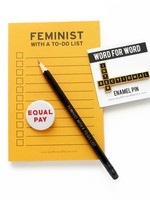 WORD FOR WORD WORD FOR WORD FEMINIST TO-DO LIST NOTEPAD