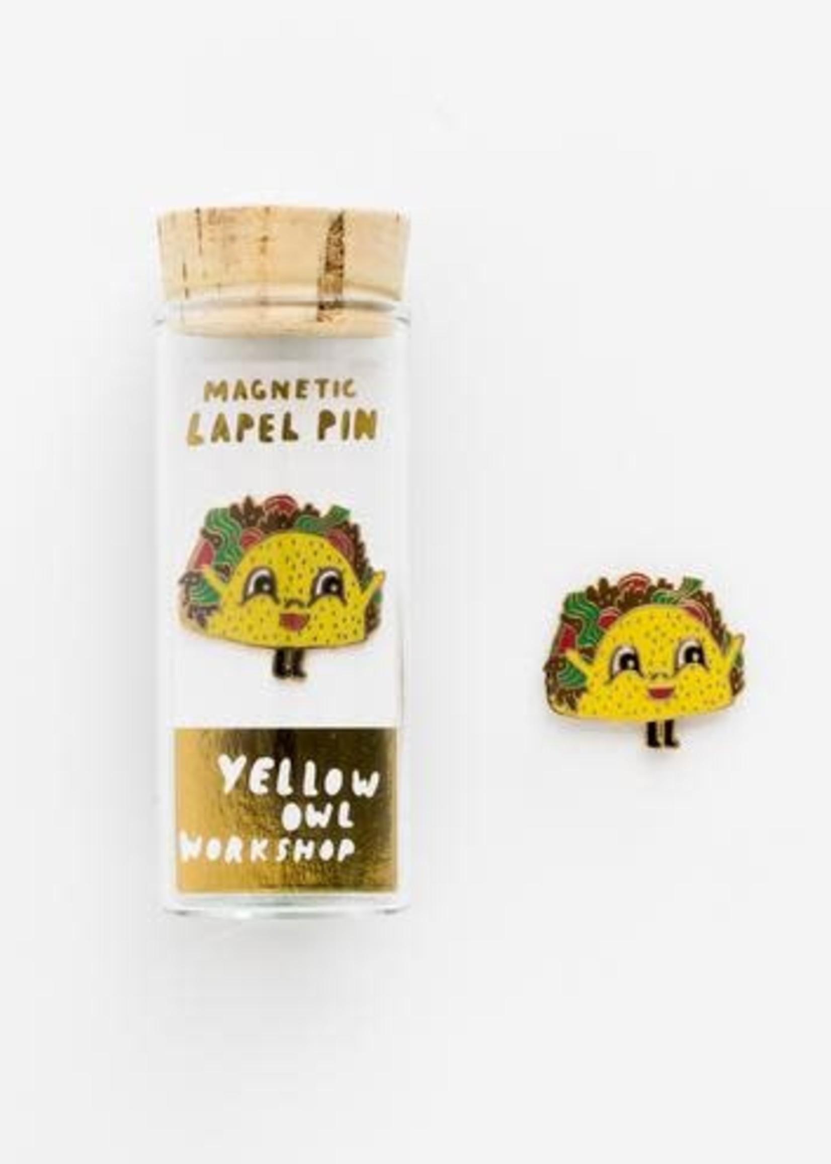YELLOW OWL WORKSHOP YELLOW OWL TACO PIN