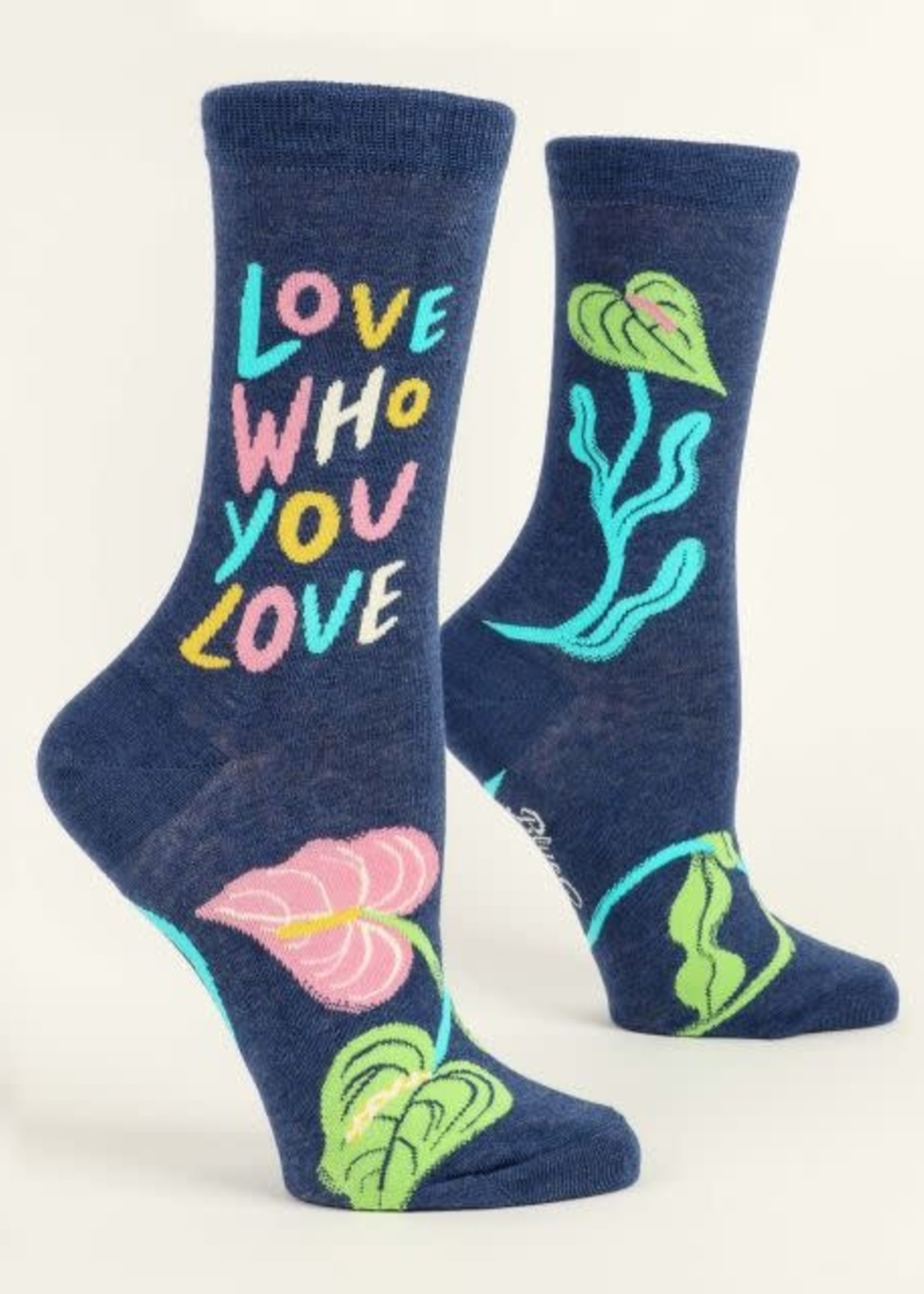BLUE Q BLUE Q LOVE WHO YOU LOVE WOMEN'S SOCKS