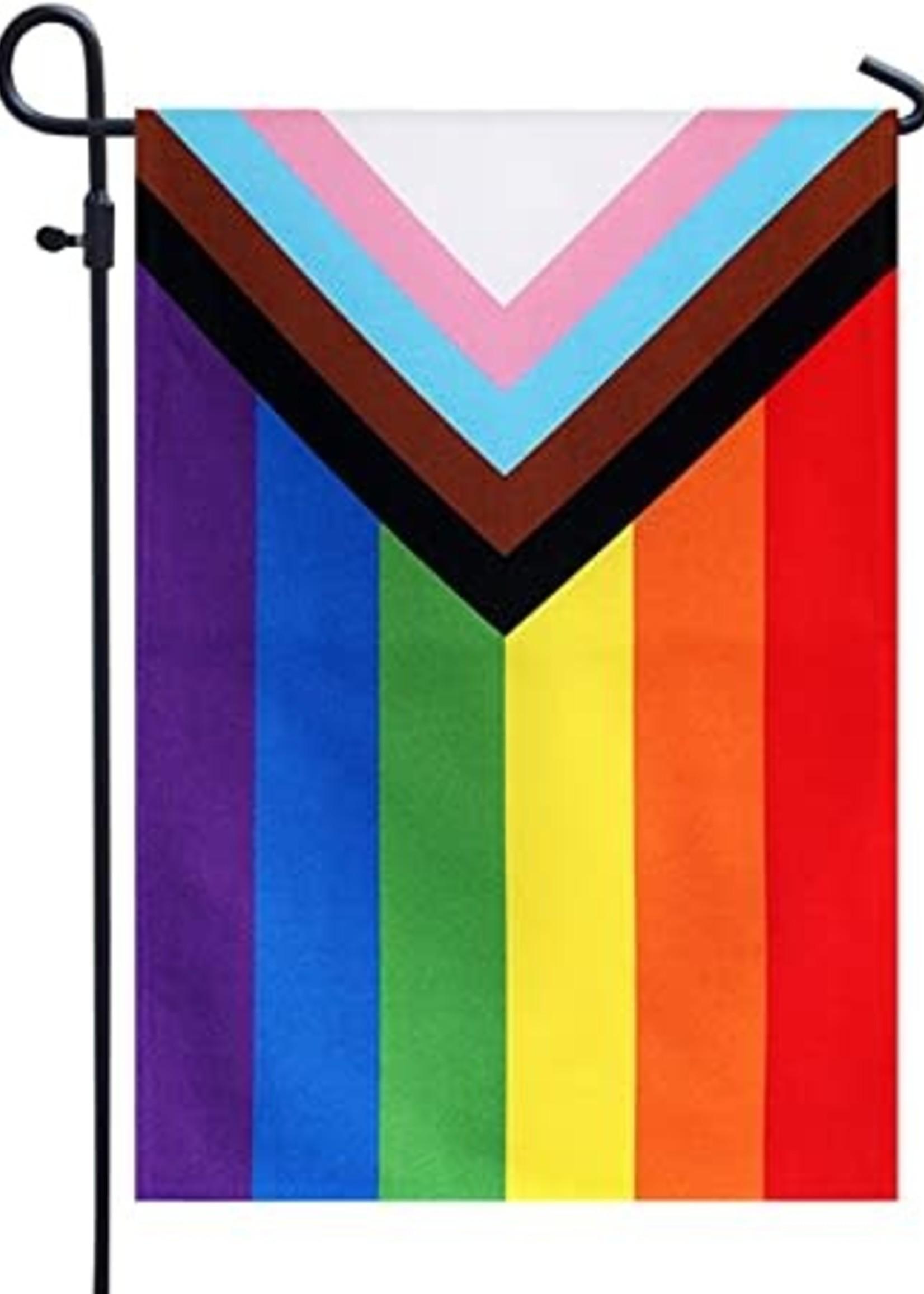 FLAGS IMPORTER FLAG IMPORTER PROGRESSIVE PRIDE GARDEN FLAG  12X18IN FLAG