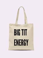 CRIMSON & CLOVER BIG TIT ENERGY TOTE BAG