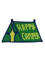 BADGE BOMB HAPPY CAMPER TENT GREEN PATCH