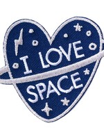 BADGE BOMB I LOVE SPACE PATCH