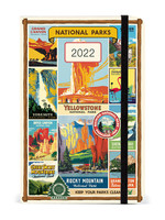CAVALLINI PAPERS NATIONAL PARKS 2022 WEEKLY PLANNER W/ELASTIC