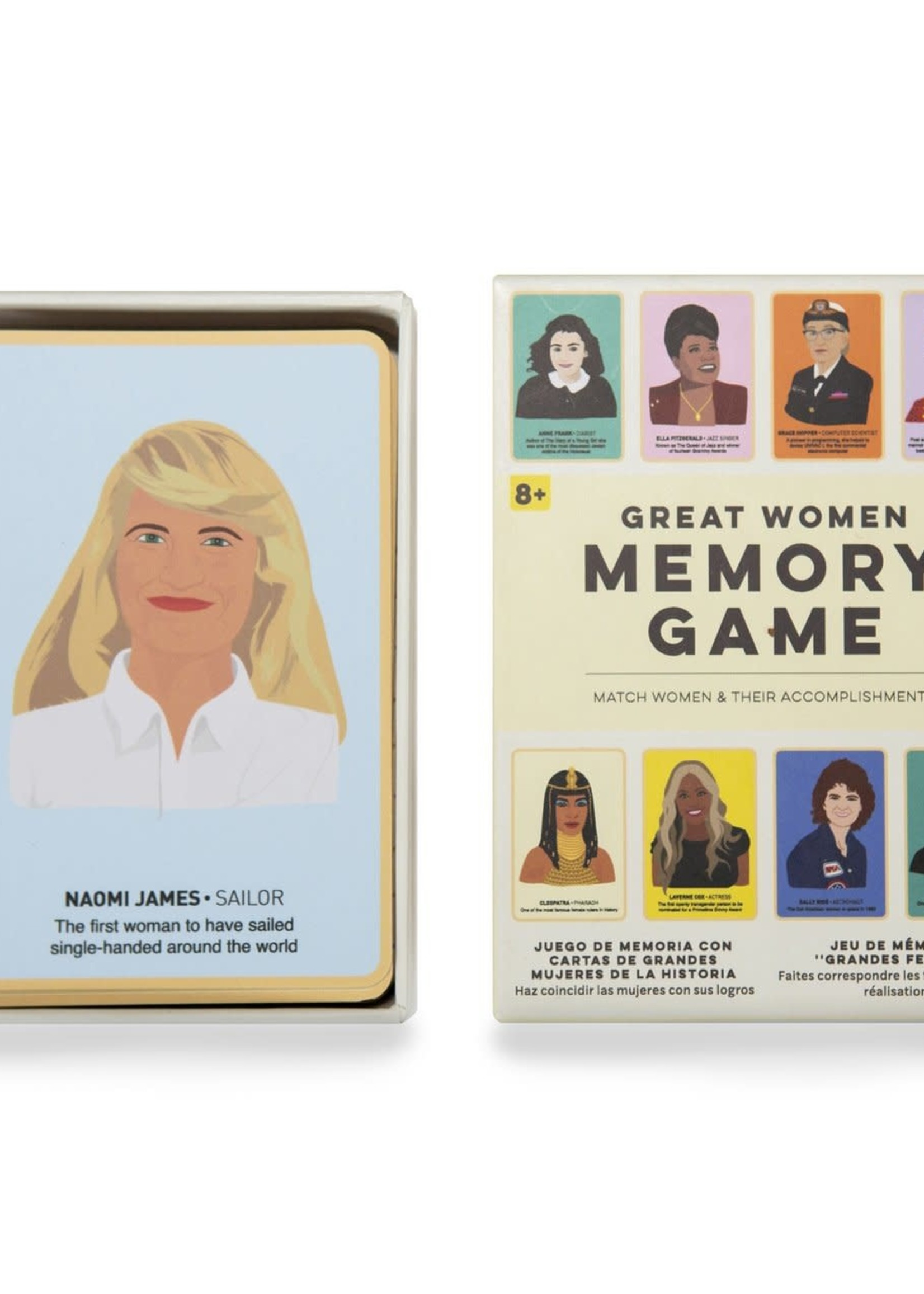 KIKKERLAND KIKKERLAND GREAT WOMEN MEMORY GAME