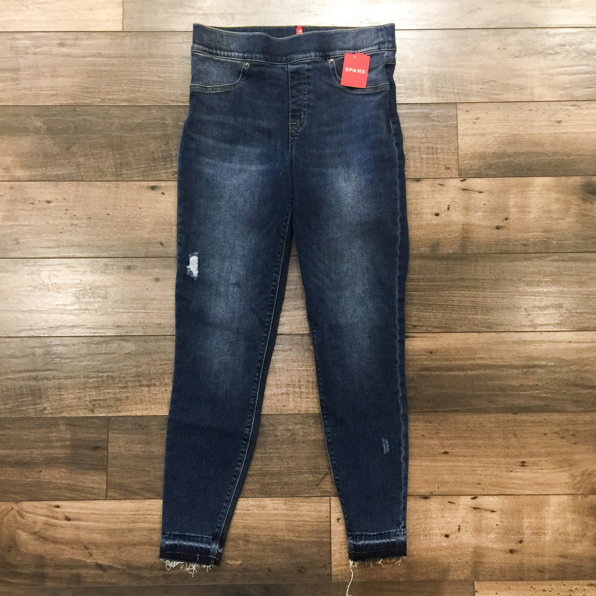 Spanx Distressed Pull On Jeans