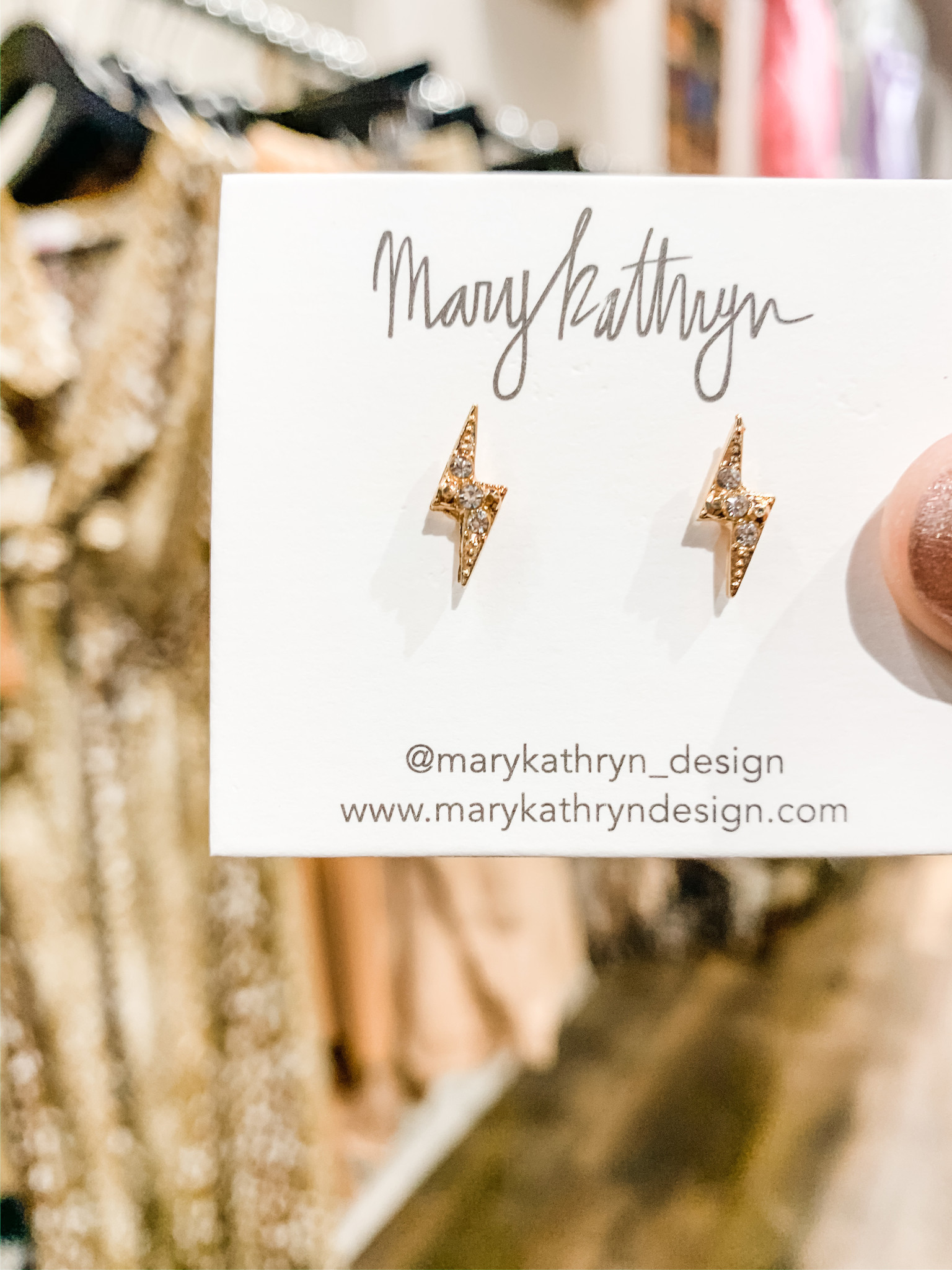 Mary Kathryn Designs Bolts of Lightening Earring