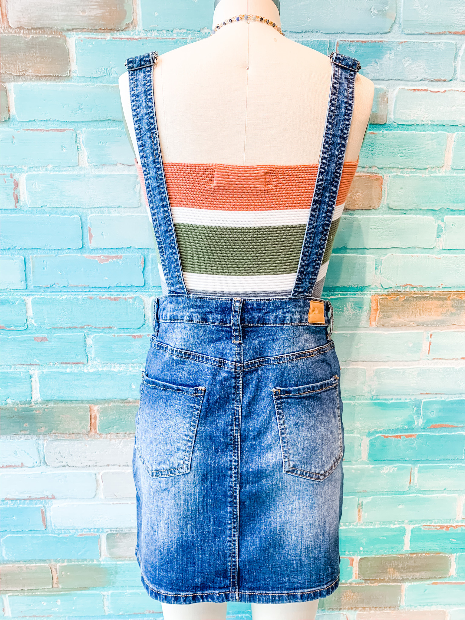 Envy Label Denim Overall Dress