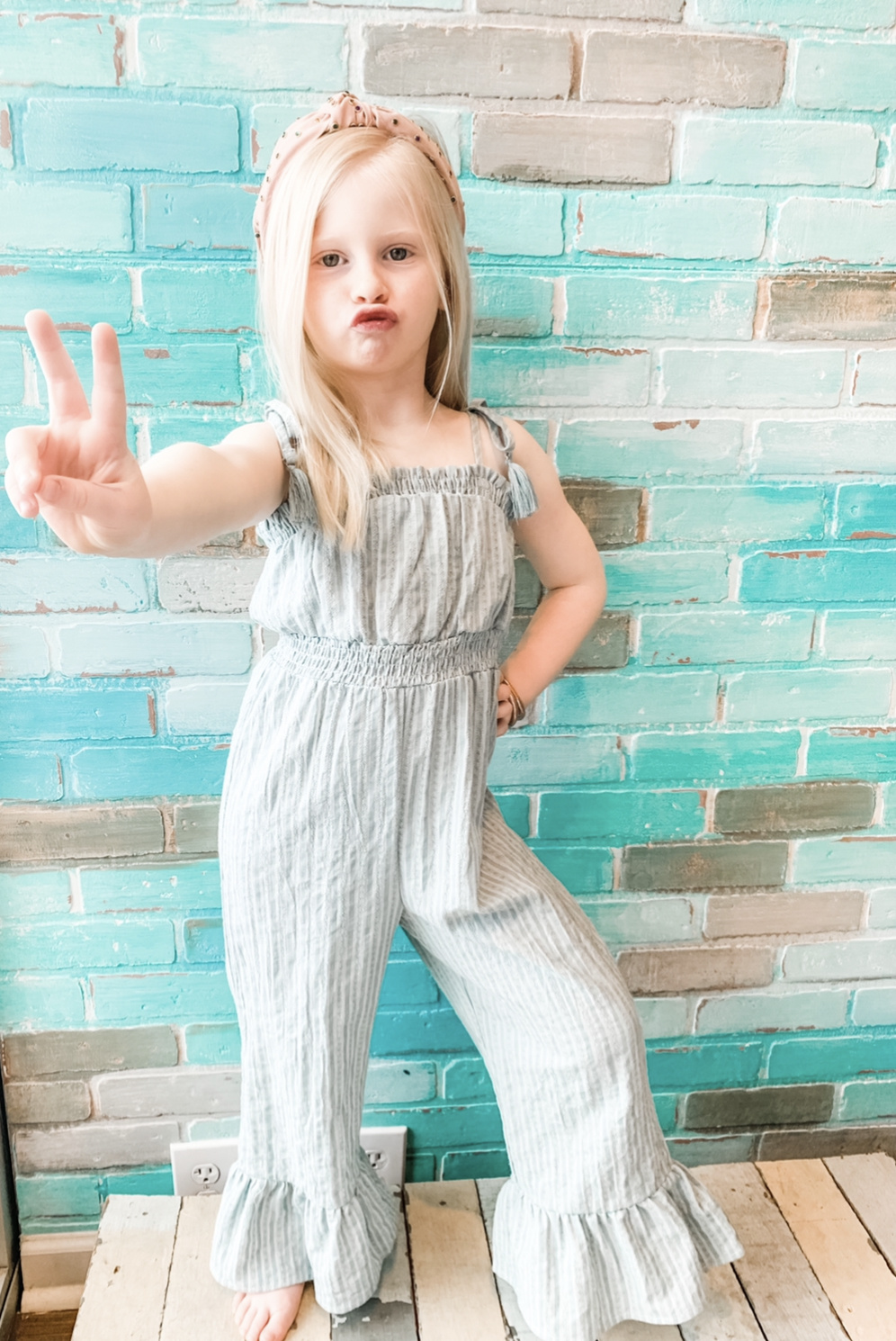Work It Out With Haddie Mac Picking Wild Daisies Jumpsuit