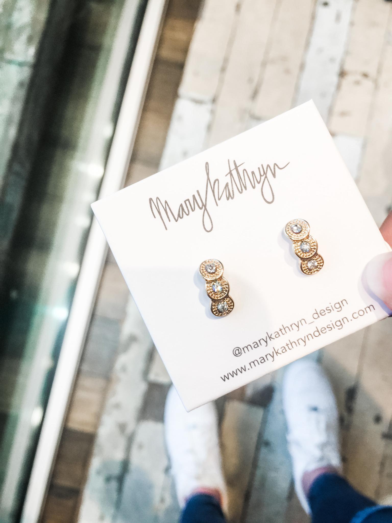Mary Kathryn Designs Triple Threat Drop Earring