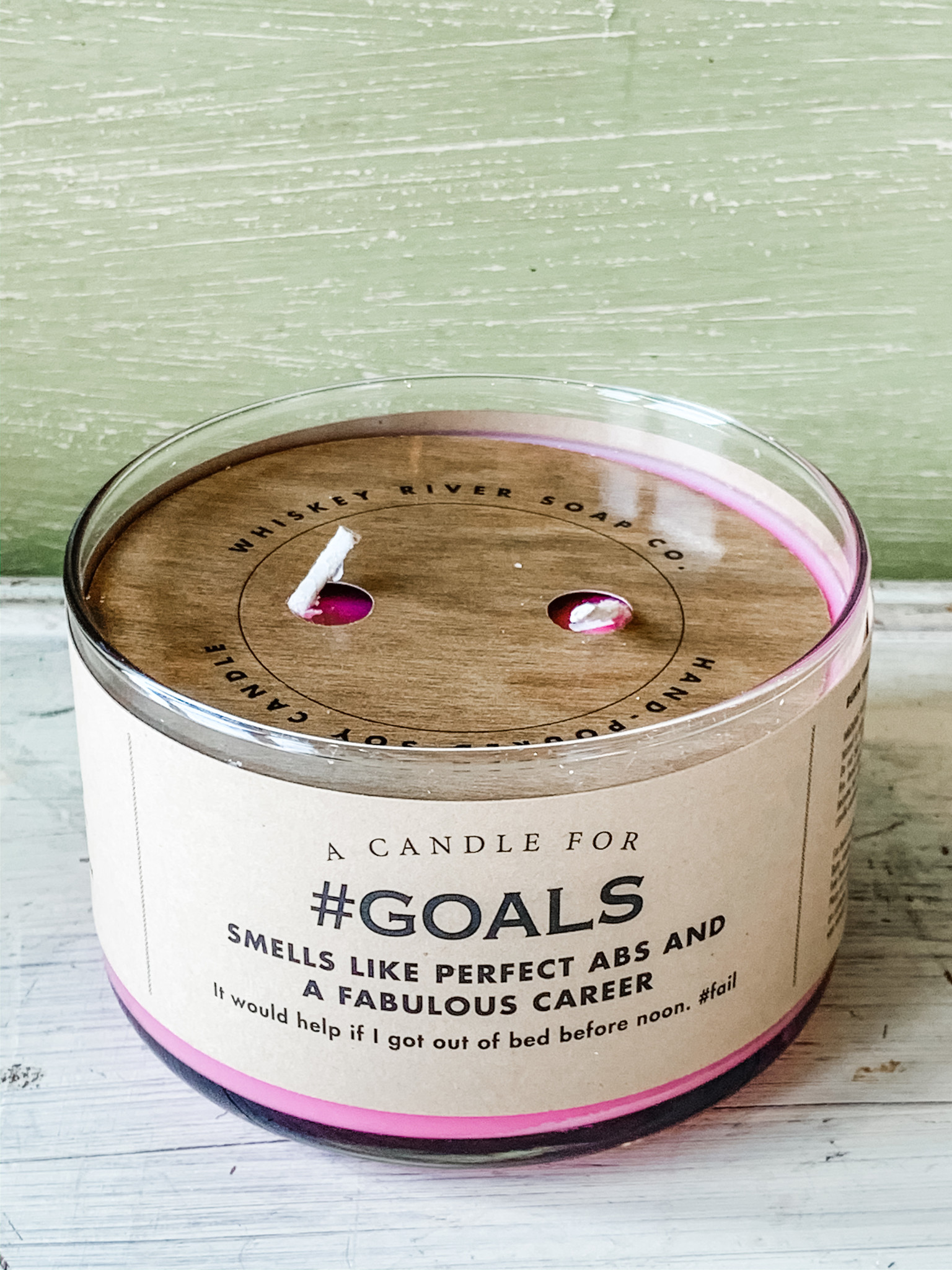 Whiskey River Soap Company Whiskey River Candle Goals