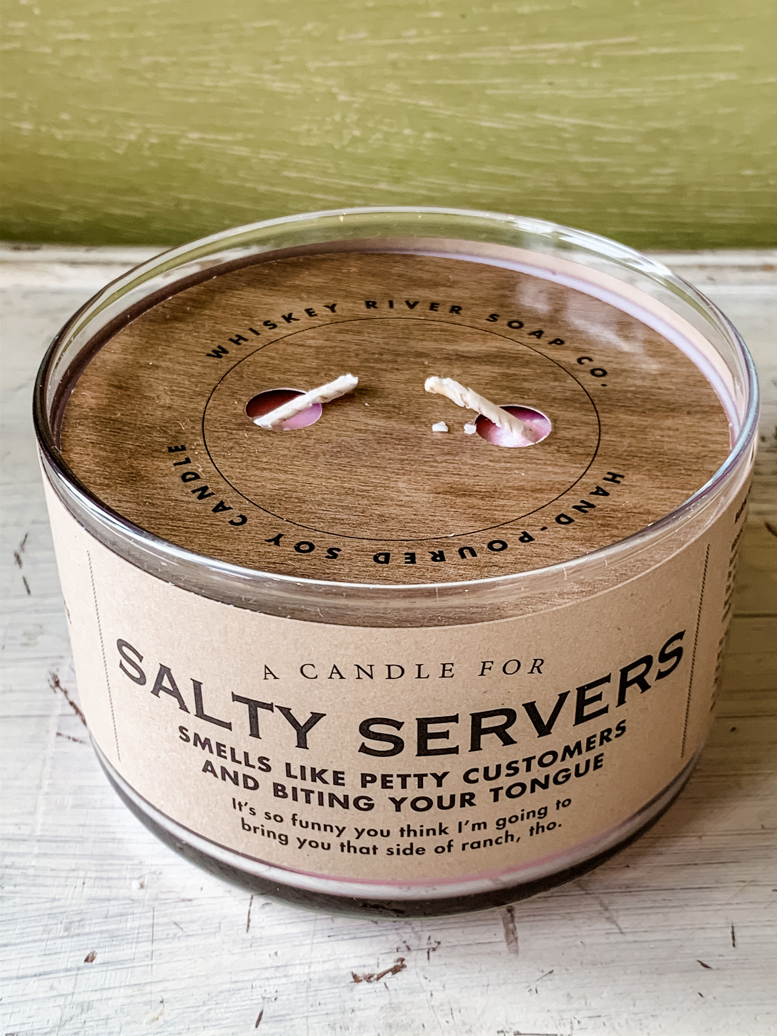 Whiskey River Soap Company Whiskey River Candle Salty Servers