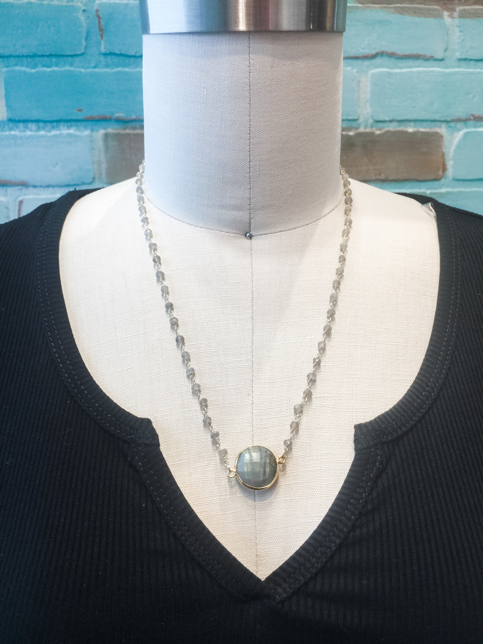 Mary Kathryn Designs Known Shapes Necklace Stone