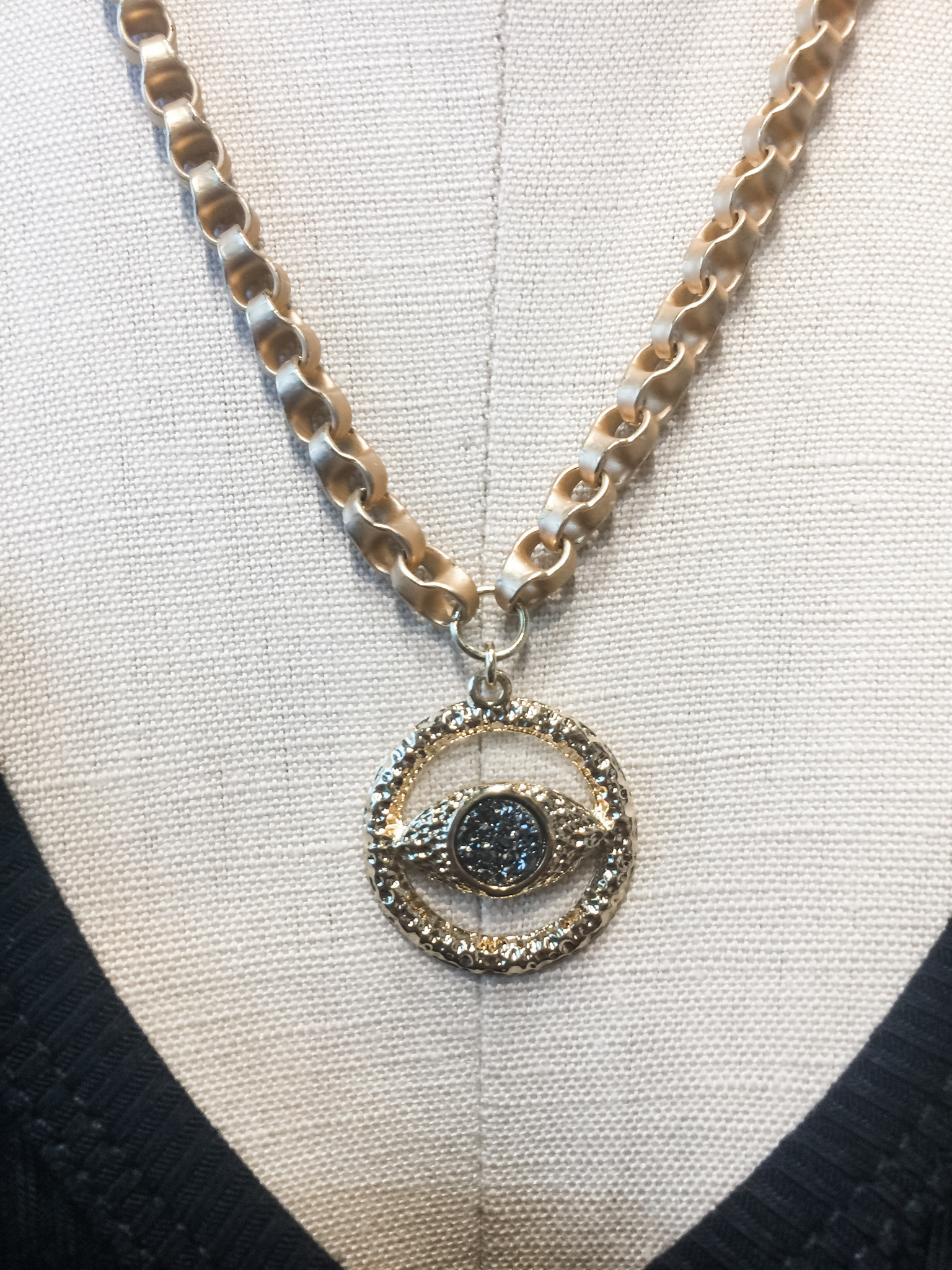 Mary Kathryn Designs Known Shapes Necklace Evil Eye