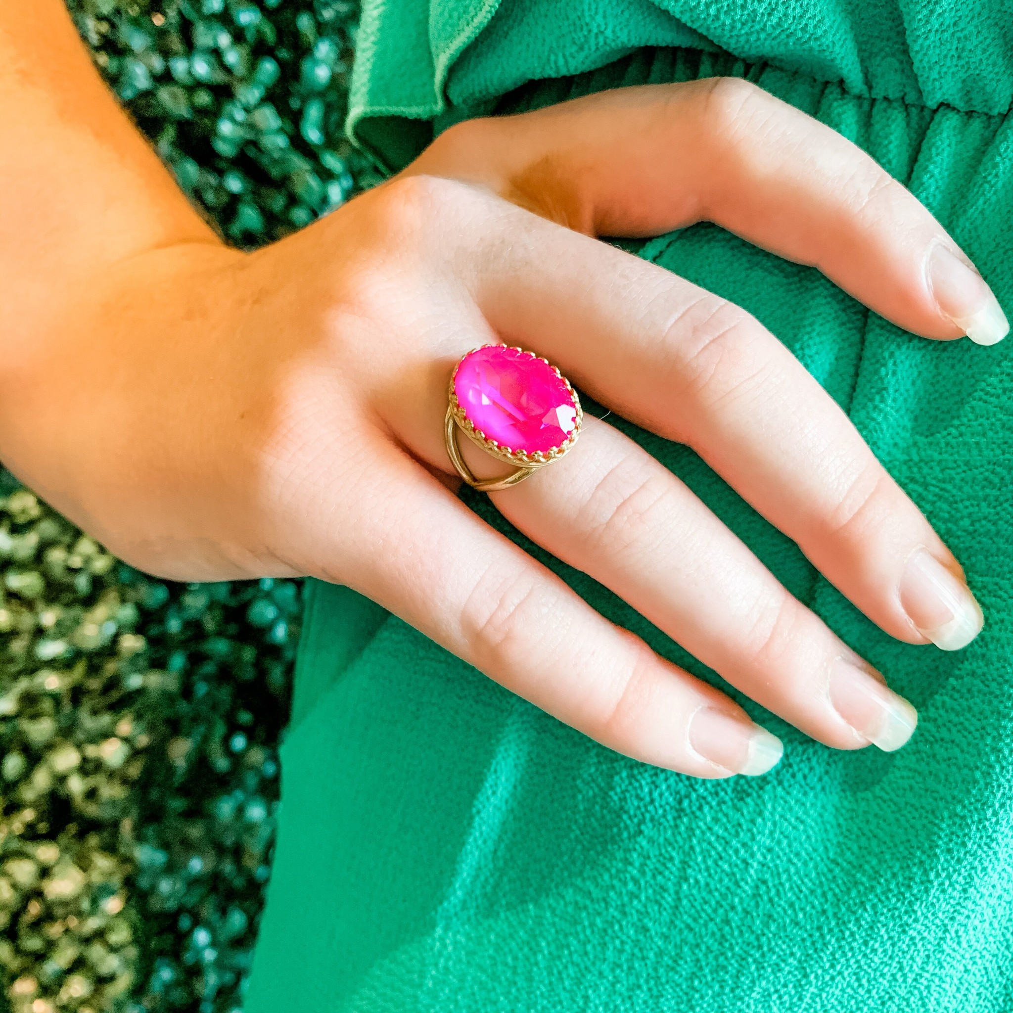 joy jewelry Ultra Pink Swarovski Ring