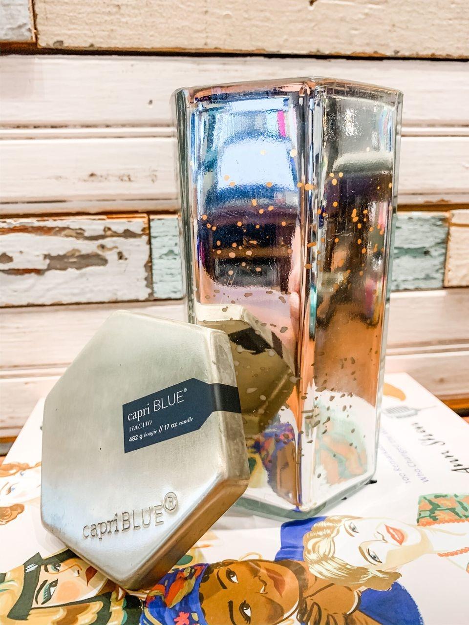 Capri Blue Volcano mercury Hexagon Candle