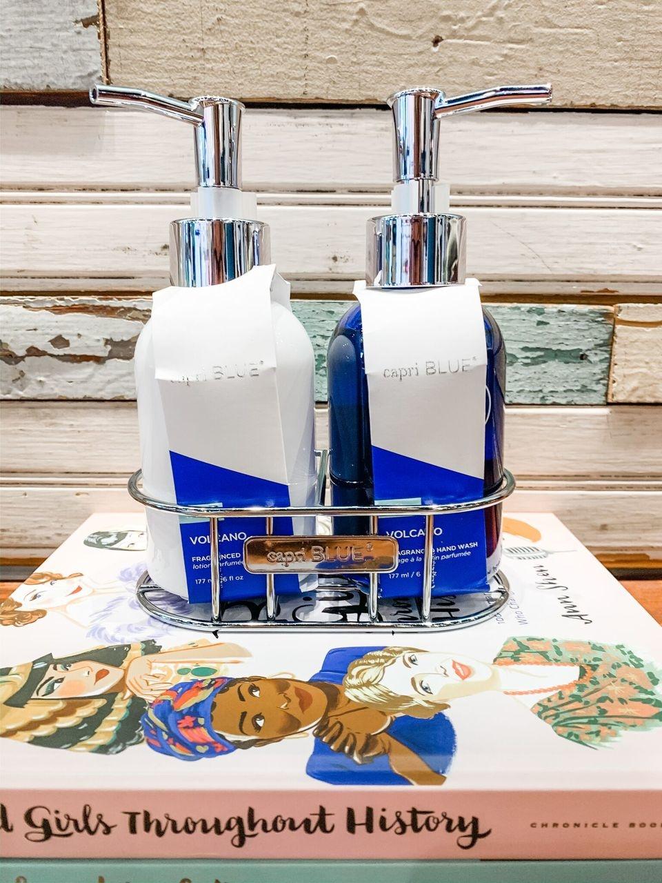 Capri Blue Volcano Hand Wash & Lotion Caddy Set