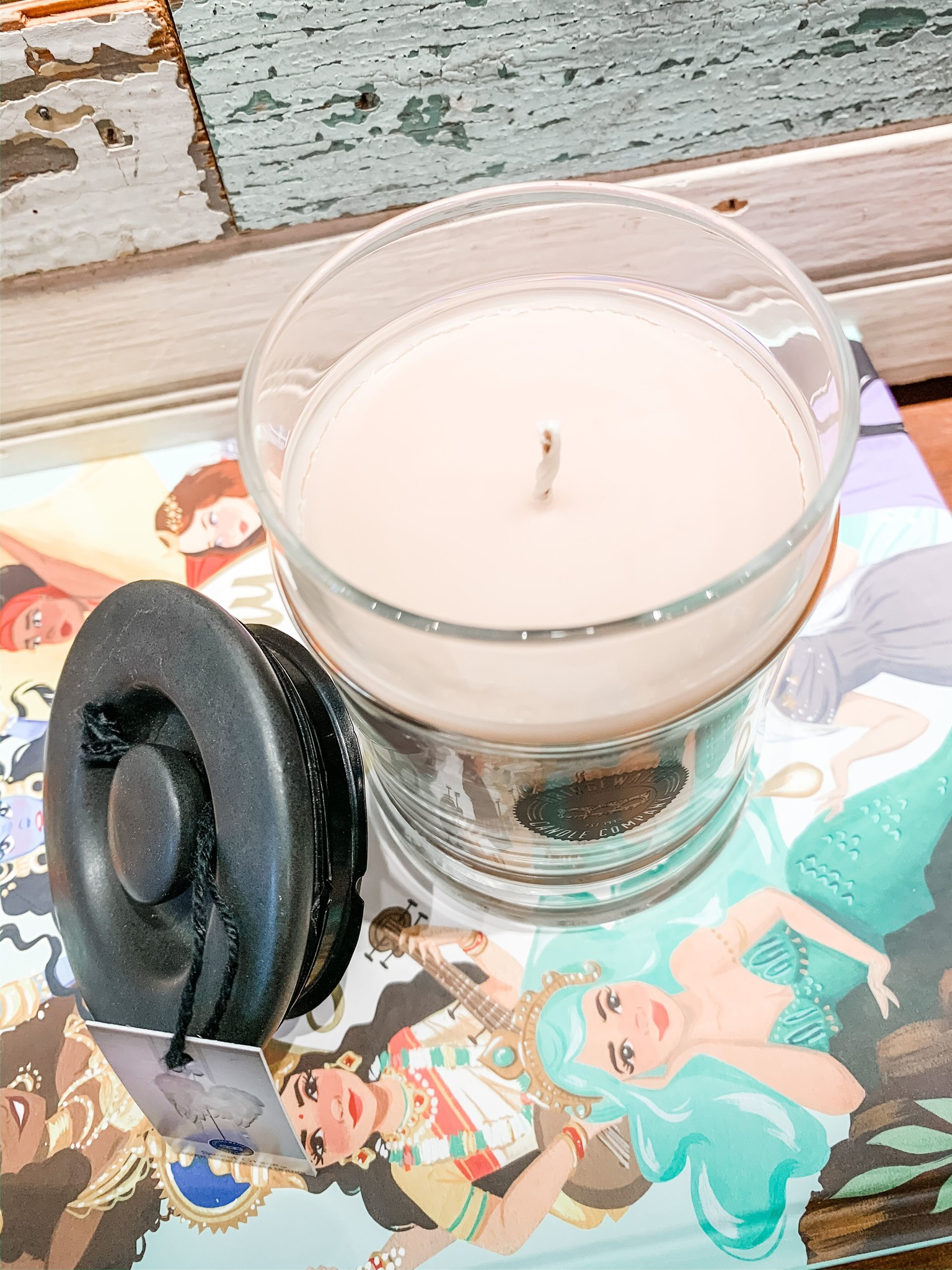 Bridgewater Glass Jar Small Candle
