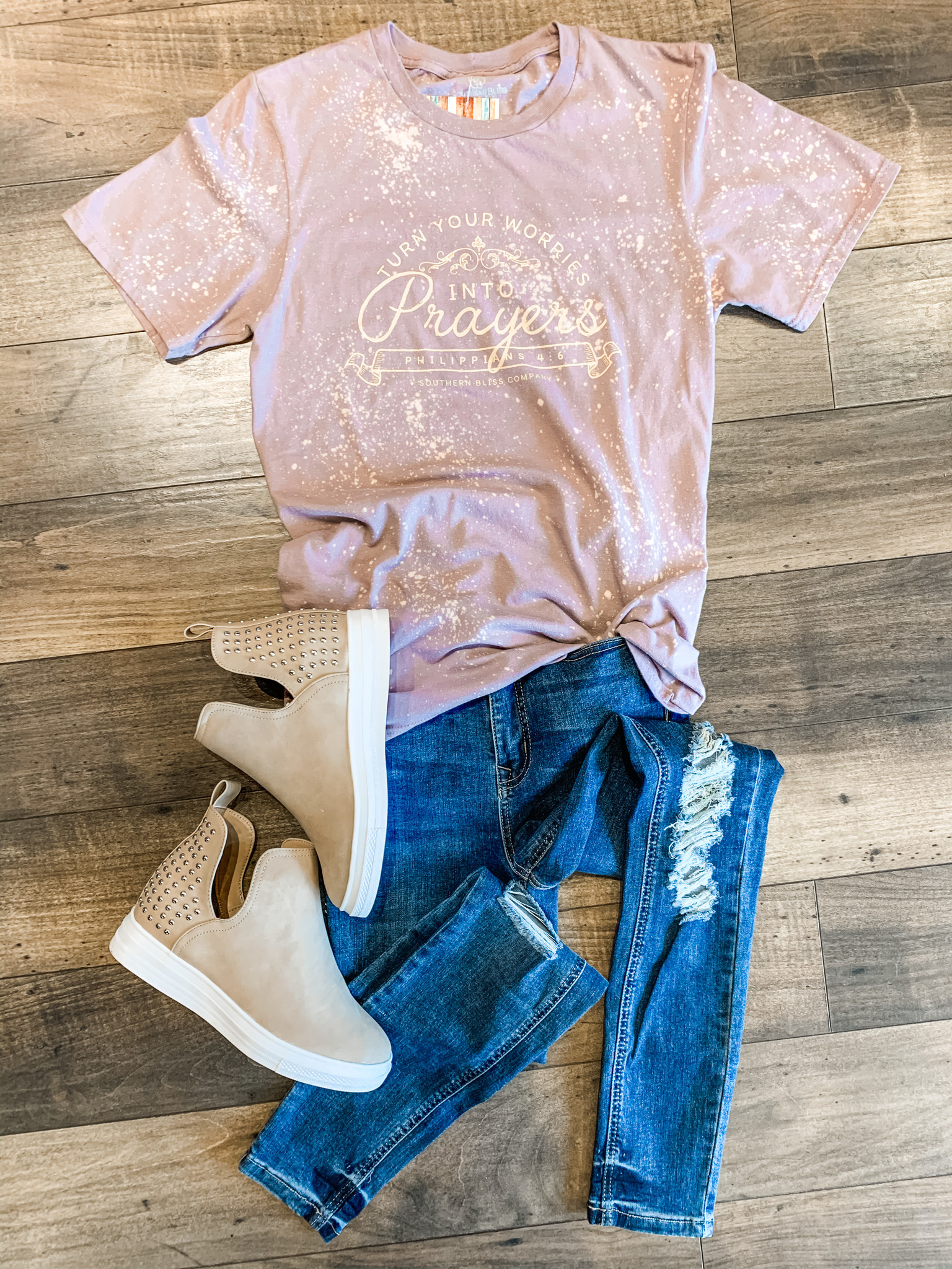 Southern Bliss Turn Your Prayers Tee