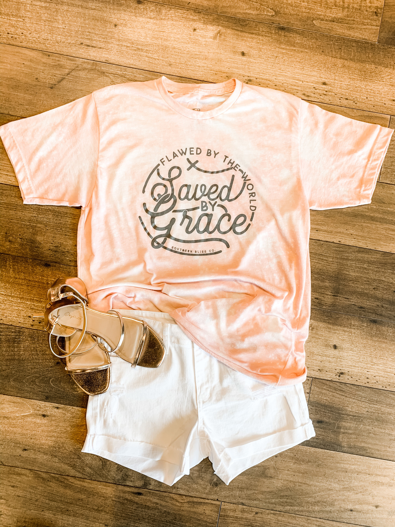Southern Bliss Saved By Grace Tee