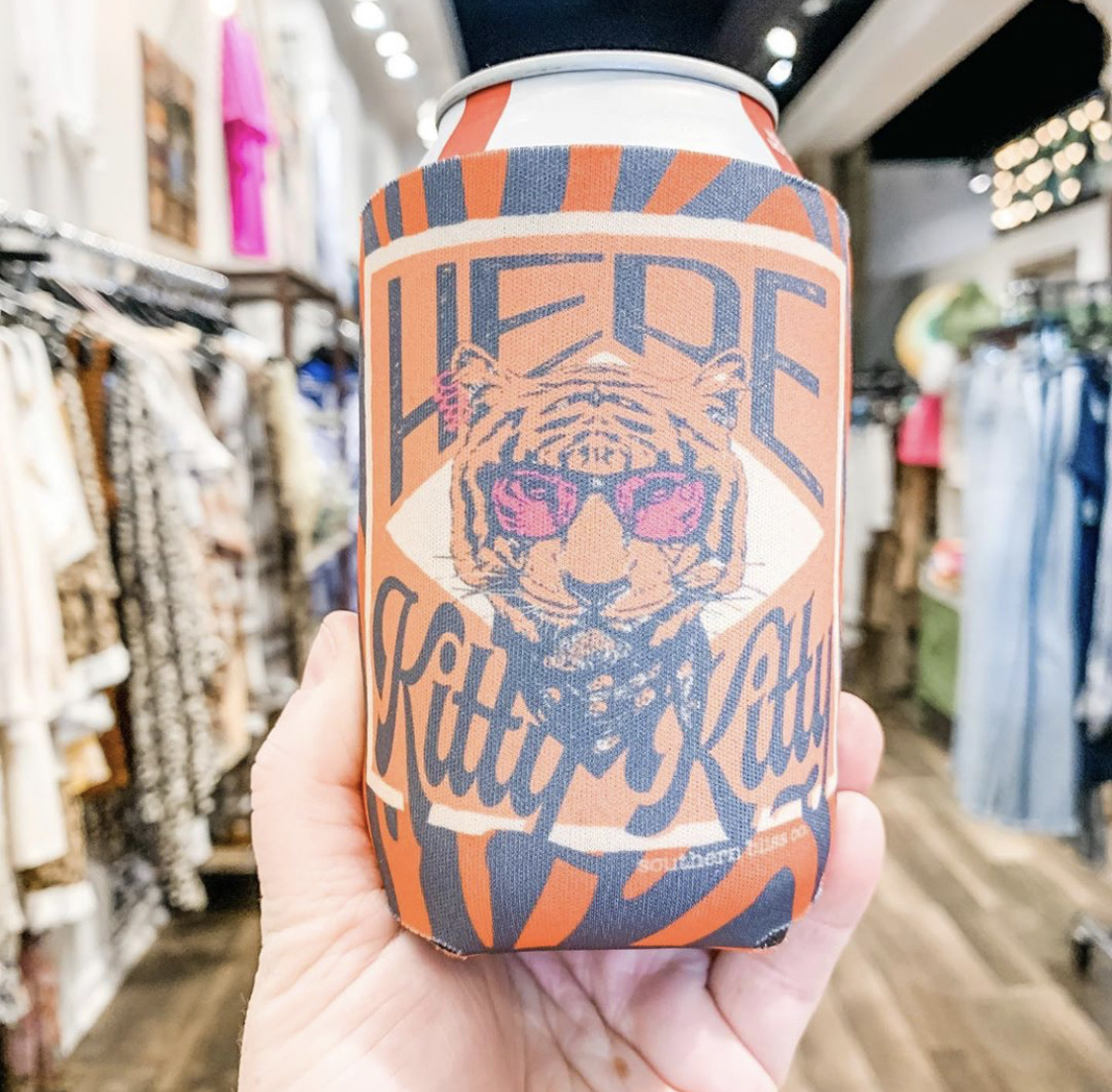 Southern Bliss Here Kitty Kitty Koozie