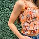 Truly Me by Sara Sara Orange Blossom Crop Top