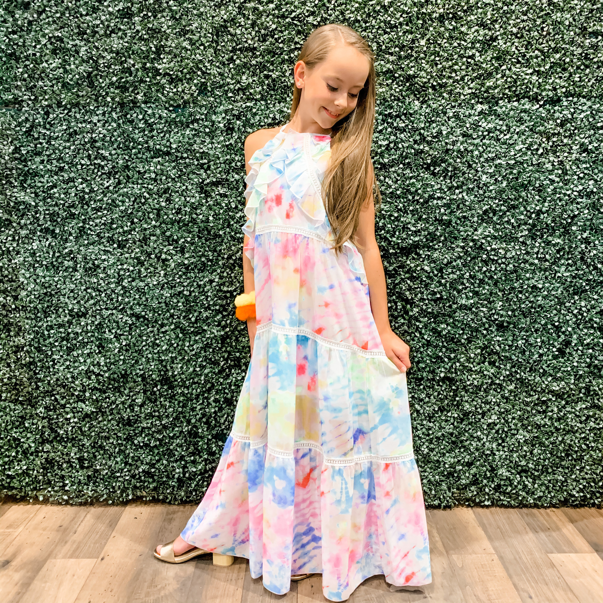 Hannah Banana Rainbow Maxi Dress
