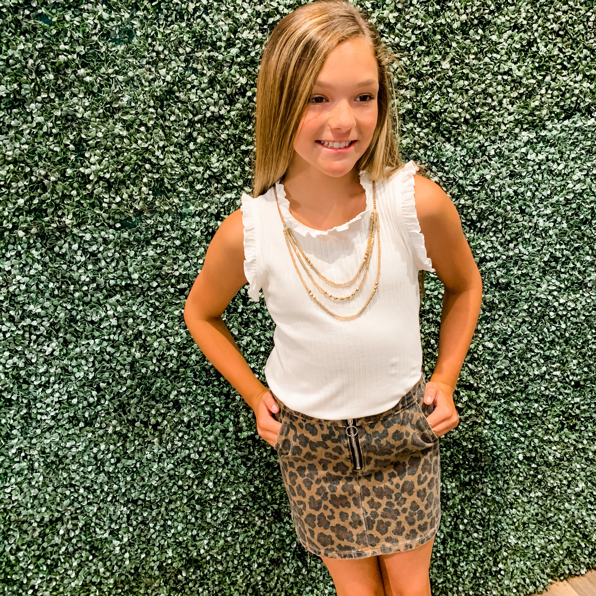 Work It Out With Haddie Mac Cutesy Ruffle Tank