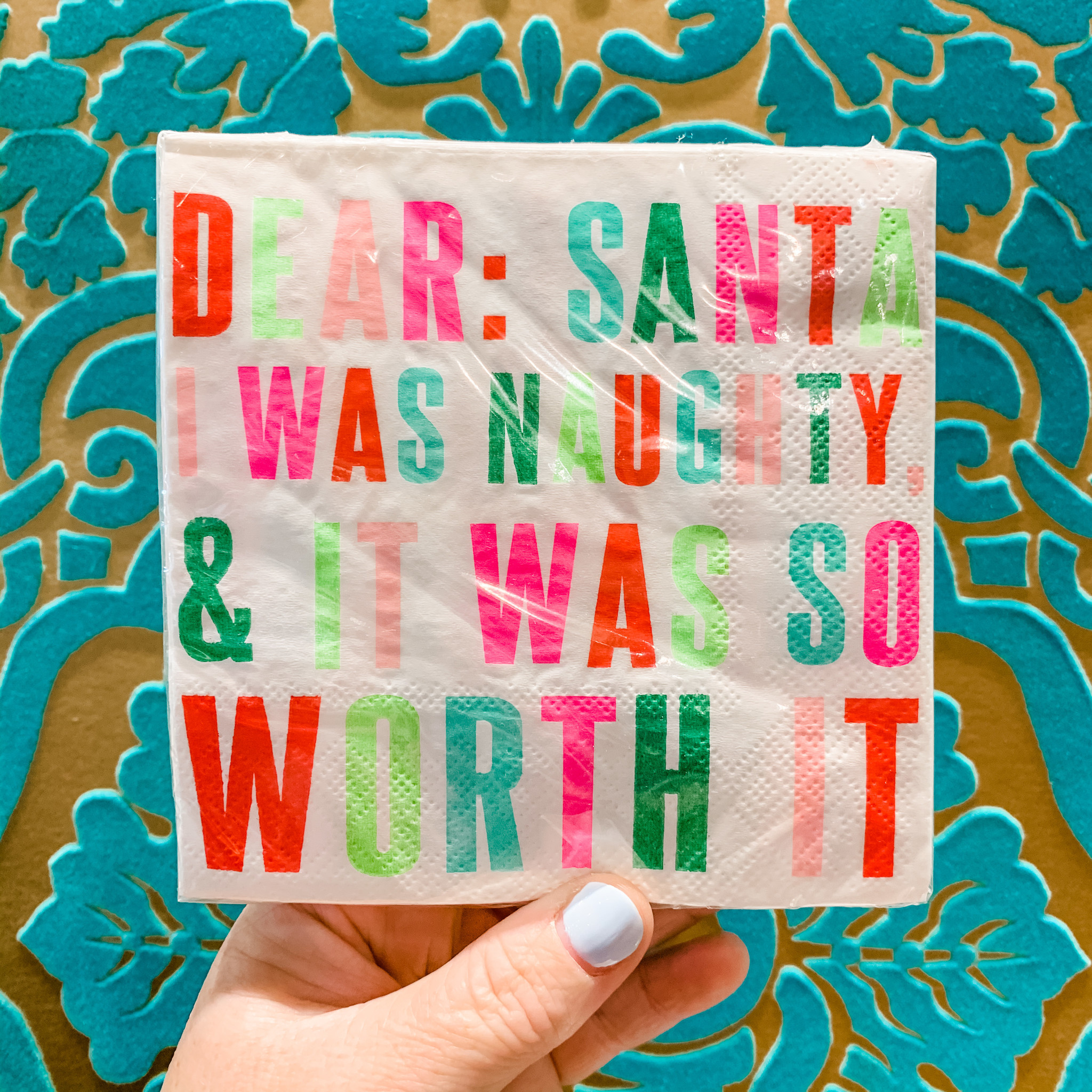 Slant Dear Santa Holiday Napkins