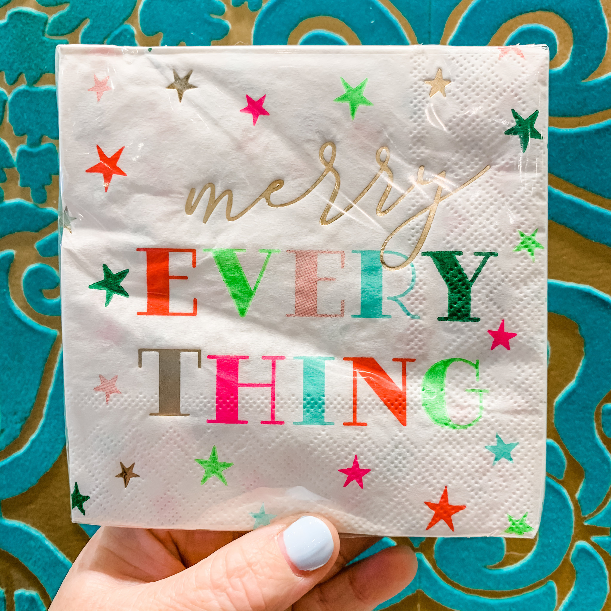 Slant Merry Everything Holiday Napkins