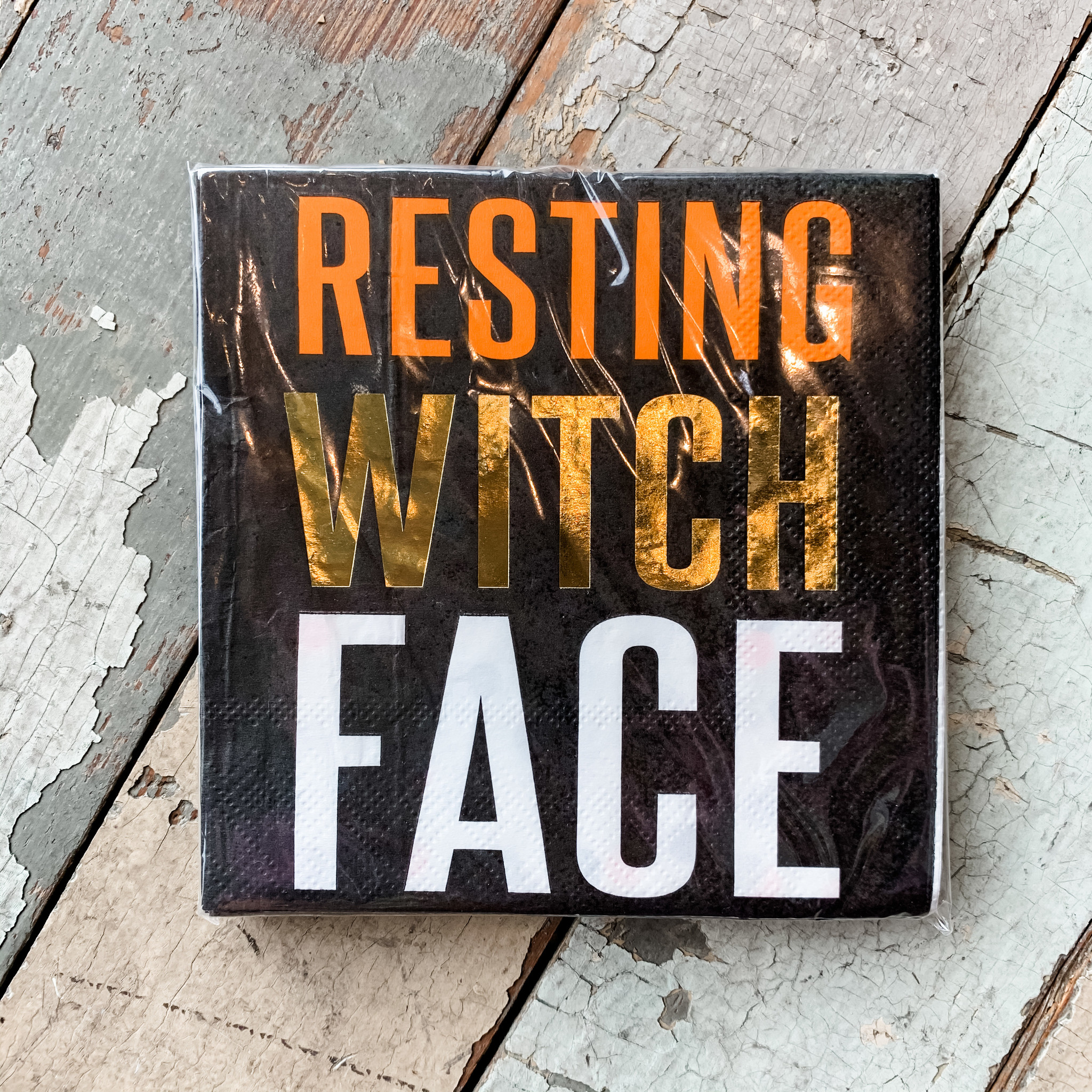 Slant Resting Witch Face Holiday Napkins