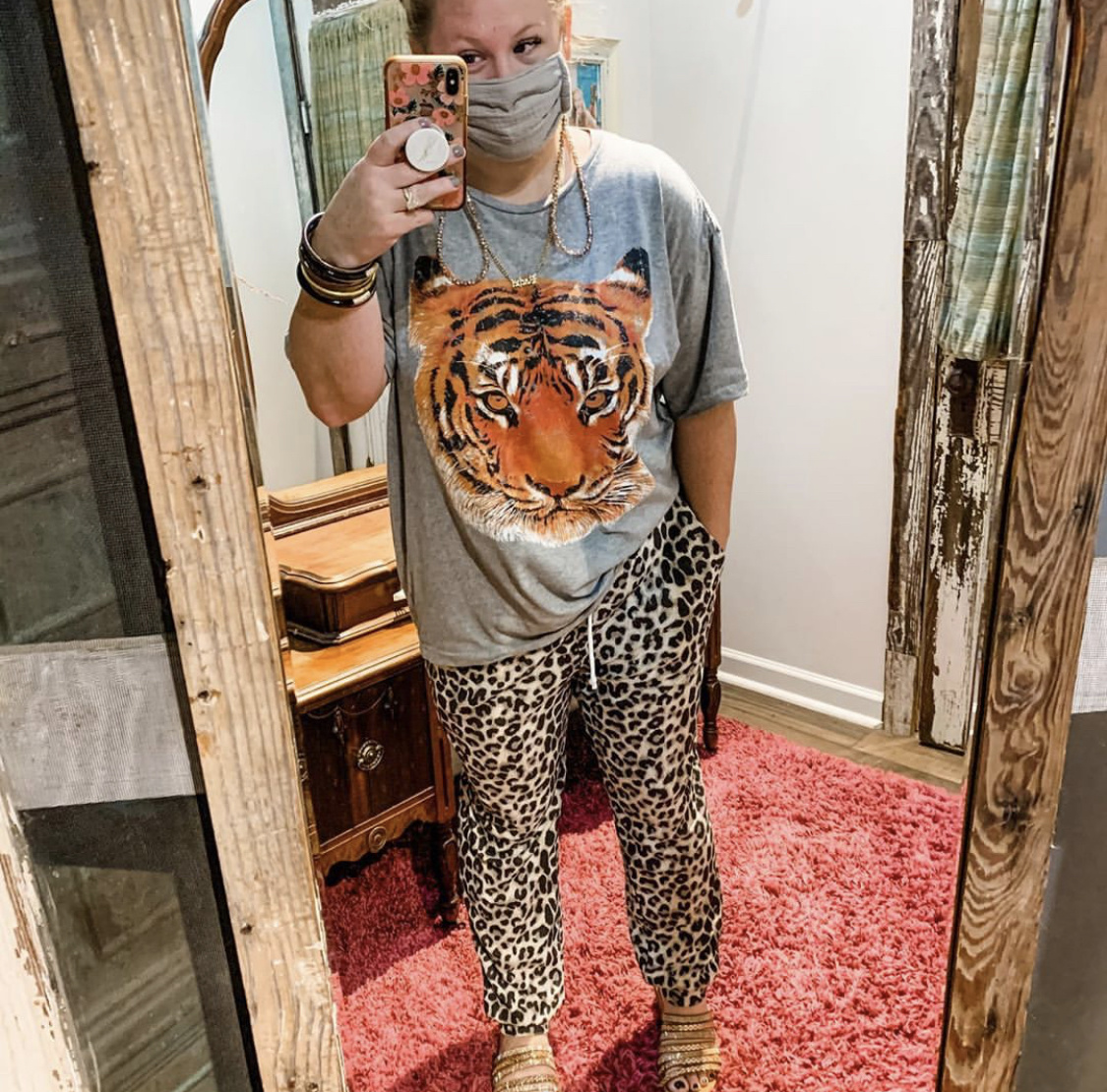 Envy Label Leaping Leopard Jogger